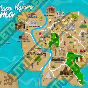 Mapa de roma infantil Little traveler