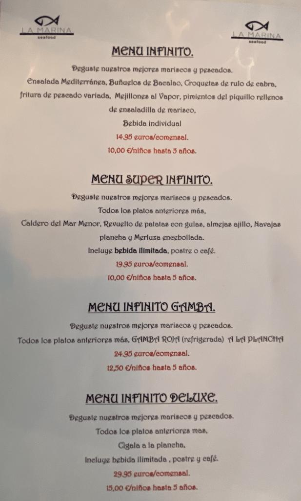 comida en Murcia