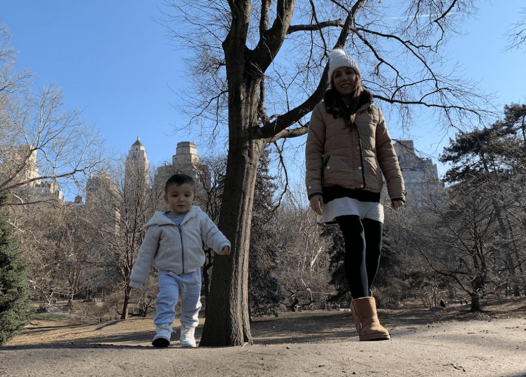 ruta por Central Park andando