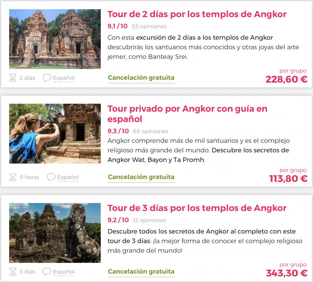 Tour templos de Angkor