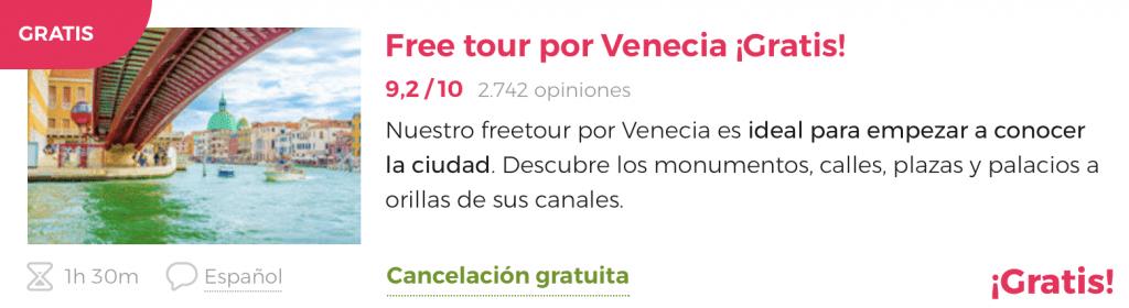 Free tour por venecia