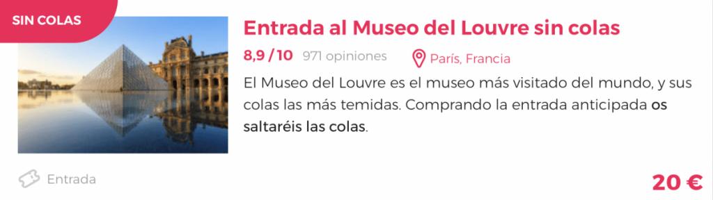 entradas sin colas el museo del Louvre