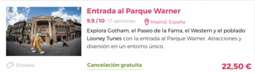 Parque Warner de Madrid